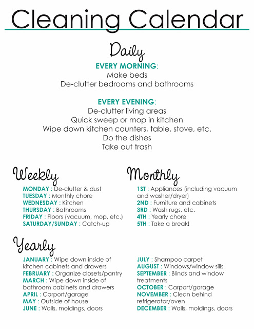 fresh and organized the 31 day house cleaning routine