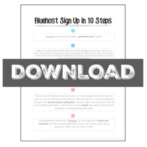 Bluehost Signup in 10 Easy Steps