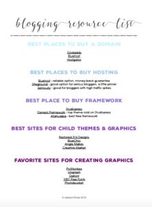 Blogging Resource List