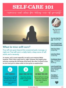 Self-Care Resource List