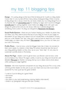 My Top 11 Blogging Tips